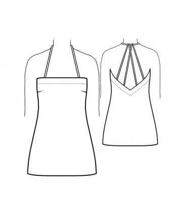 Custom-Fit Sewing Patterns - Deep Back  V-neck Slip
