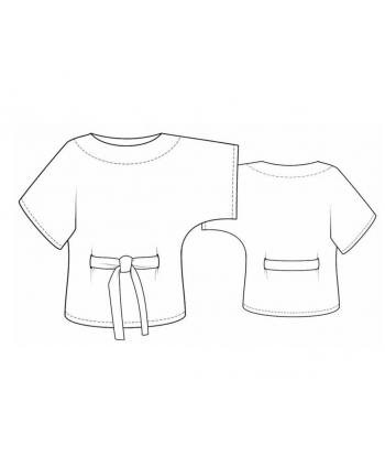 Custom-Fit Sewing Patterns - Kimono Tie Top