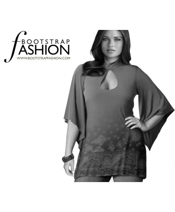 Custom-Fit Sewing Patterns - Tear Drop Tunic with Under Pointed Sleeves