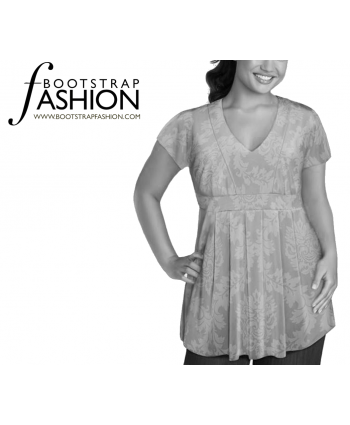 Custom-Fit Sewing Patterns - Pleated Empire Waist Top
