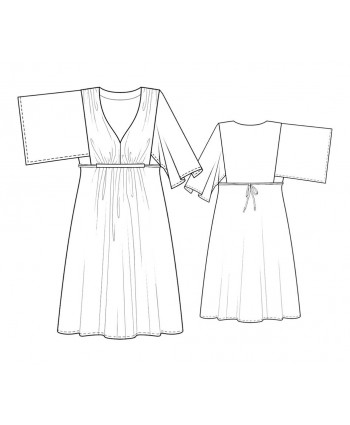 Custom-Fit Sewing Patterns - Kimono Sleeve Knit Dress