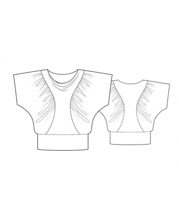 Custom-Fit Sewing Patterns - Draping Sleeves Top