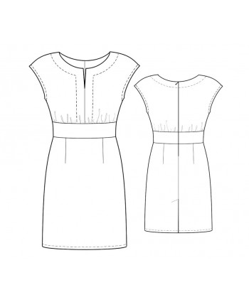 Custom-Fit Sewing Patterns - Dropped Shoulder Keyhole-Neck Dress
