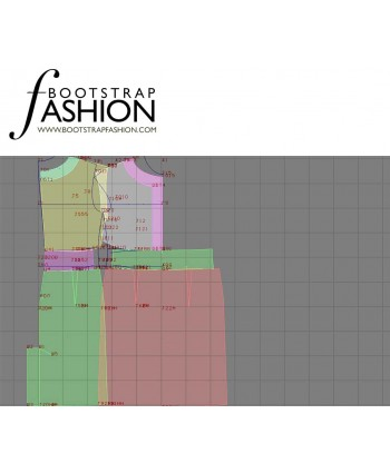 Custom-Fit Sewing Patterns - Dropped Shoulder Keyhole-Neck Dress