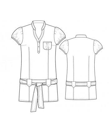 Custom-Fit Sewing Patterns - Dropped-Waist Shirt Dress