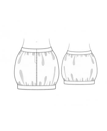 Custom-Fit Sewing Patterns - Strait Line Bubble Skirt