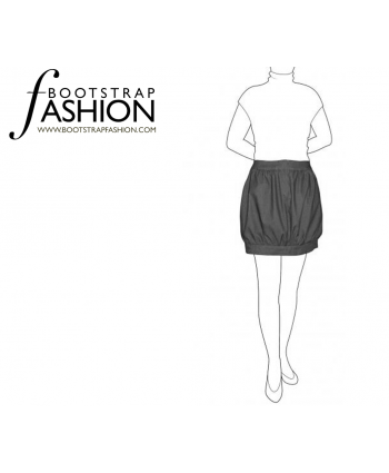 Custom-Fit Sewing Patterns - Strait Line Bubble Skirt