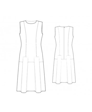 Custom-Fit Sewing Patterns - Sleeveless Round-Neck Princess Dress