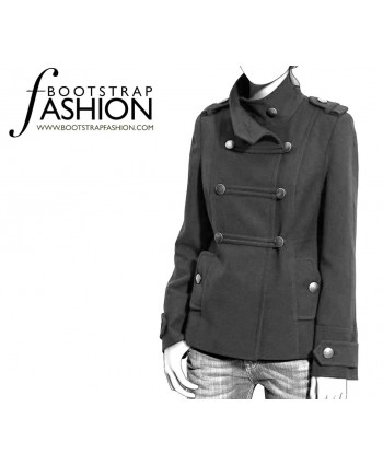 Custom-Fit Sewing Patterns - Funnel-Neck Military Coat