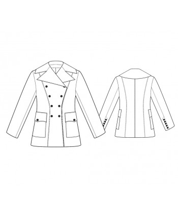 Custom-Fit Sewing Patterns - Short Drum Major-Style Jacket