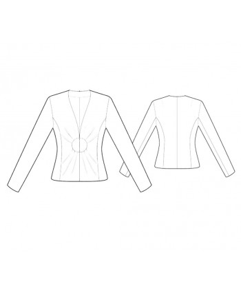 Custom-Fit Sewing Patterns - Fitted Draped Collarless Jacket