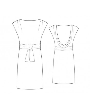 Custom-Fit Sewing Patterns - Low Back Cowl Knit Dress