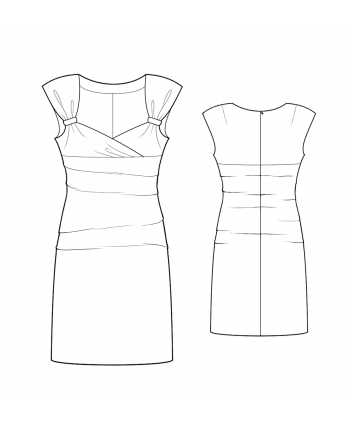 Custom-Fit Sewing Patterns - Sleeveless Sweetheart-Neck Dress