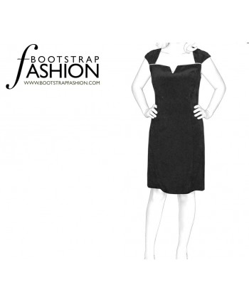 Custom-Fit Sewing Patterns - Sleeveless Keyhole-Neck Dress