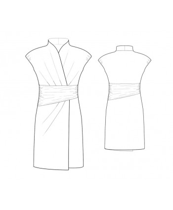 Custom-Fit Sewing Patterns - Wrap Dress with Cummerbund