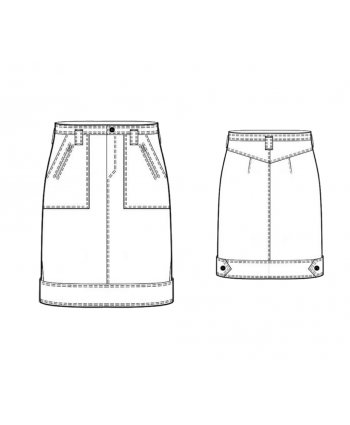 Custom-Fit Sewing Patterns - Flat Front Pockets Pencil