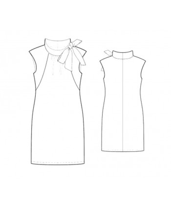 Custom-Fit Sewing Patterns - Sleeveless Dress with Tied Neckline