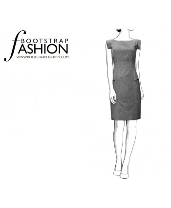 Custom-Fit Sewing Patterns - Structured Sleeveless Dress