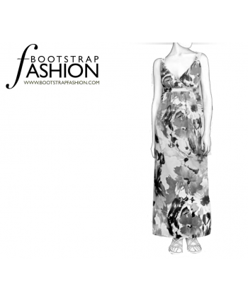 Made To Measure Patterns - Surplice Empire Waist Maxi Dress