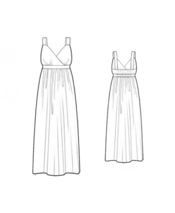 Made To Measure Patterns - Surplice Empire Waist Maxi Dress