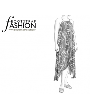 Custom-Fit Sewing Patterns - Loose Drape Tunic