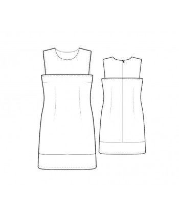 Custom-Fit Sewing Patterns - Sleeveless Three-Panel Dress
