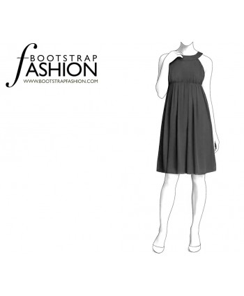 Custom-Fit Sewing Patterns - Sleeveless Empire-Waist Dress