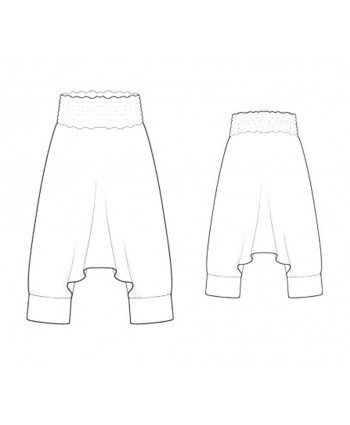 Custom-Fit Sewing Patterns - Harem Pants