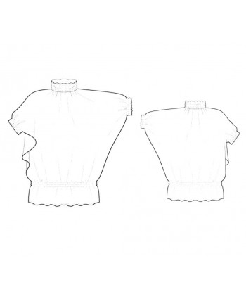 Custom-Fit Sewing Patterns - Batwing Blouson Top