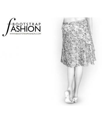 Custom-Fit Sewing Patterns - A-Line Swirl Skirt