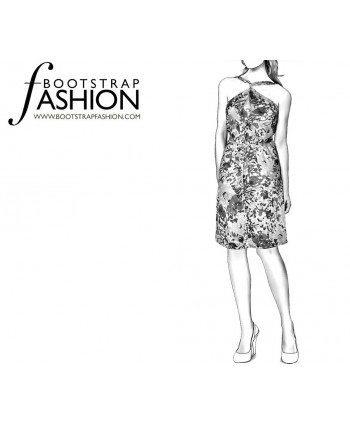 Custom-Fit Sewing Patterns - Convertible Wrap Dress