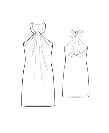 Custom-Fit Sewing Patterns - Gathered Halter Dress