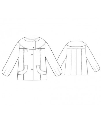 Custom-Fit Sewing Patterns - Turnout Cowl-Collar Short Coat