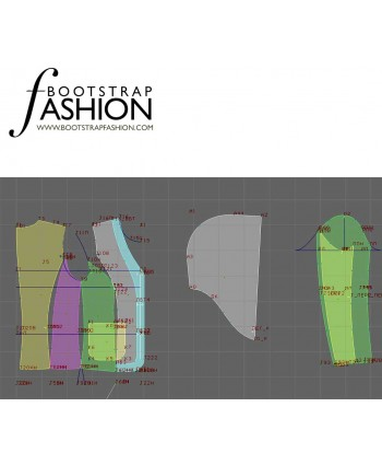 Custom-Fit Sewing Patterns - Two-Pocket Jacket with Draped Hood