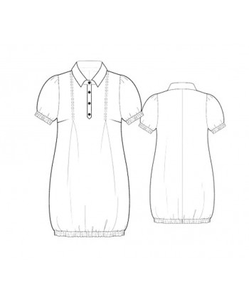 Custom-Fit Sewing Patterns - Shirt Bloomer Dress