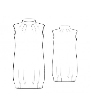 Custom-Fit Sewing Patterns - Sleeveless Bloomer Dress