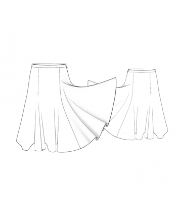 Custom-Fit Sewing Patterns - Paneled Circular Midi Skirt