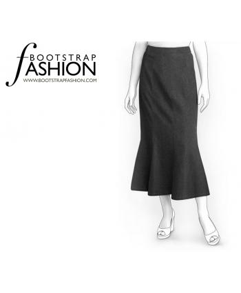 Custom-Fit Sewing Patterns - New Product - Knee Length Mermaid Skirt