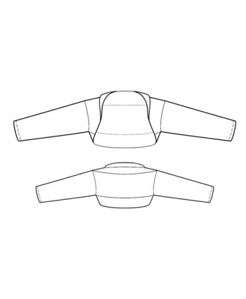 Custom-Fit Sewing Patterns - Just Sleeves Cropped Shrug