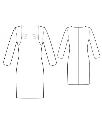 Custom-Fit Sewing Patterns - Elegant Fitted Dress