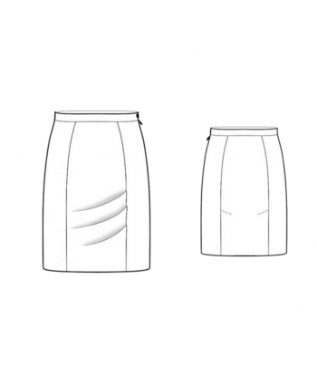 Custom-Fit Sewing Patterns - Princess Pencil Skirt
