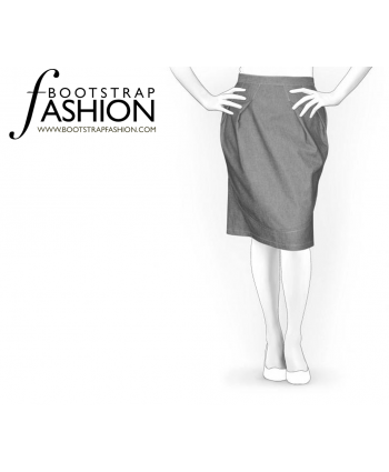 Custom-Fit Sewing Patterns - Draped Pencil Skirt