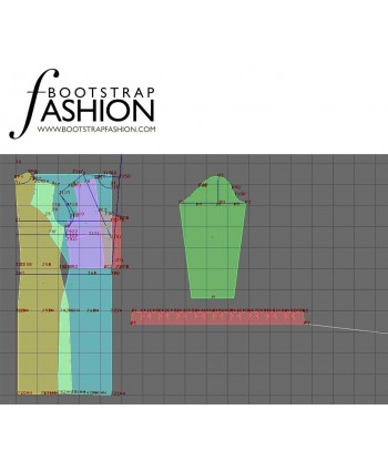 Custom-Fit Sewing Patterns - Draped Neck Dress