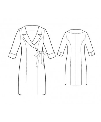 Custom-Fit Sewing Patterns - Wrap Coat Dress