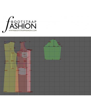 Custom-Fit Sewing Patterns - Scoop-Neck Button-Front Dress