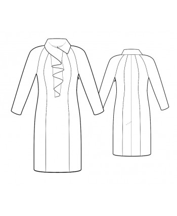 Custom-Fit Sewing Patterns - Fitted Dress with Cascading Collar