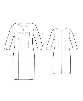 Custom-Fit Sewing Patterns -  Long Sleeve Slash Neck Dress