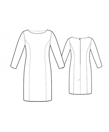 Custom-Fit Sewing Patterns - Boatneck Princess Seams Dress