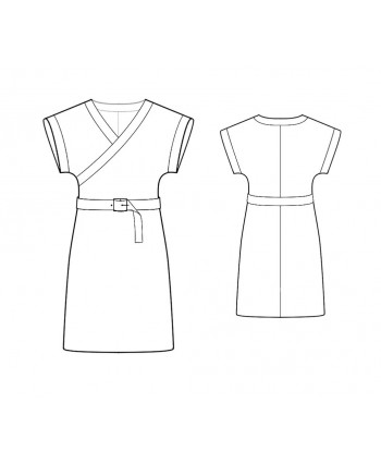 Custom-Fit Sewing Patterns - Kimono Wrap Knit Dress