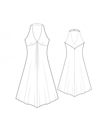 Custom-Fit Sewing Patterns - Hankerchief Skirt Halter Dress